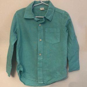 Gap linen/cotton long-sleeved button up